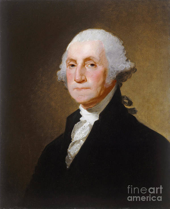 George; Washington; 1st; First; Us; President; United; States; America; Usa; Male; Portrait; Half; Length; Leader Print featuring the painting George Washington by Gilbert Stuart