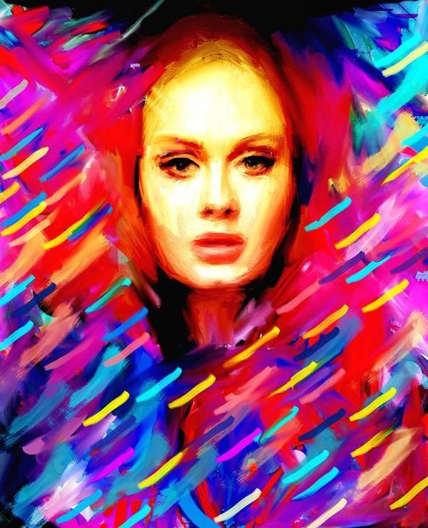 Super Star Art Print featuring the painting Star by Bogdan Floridana Oana
