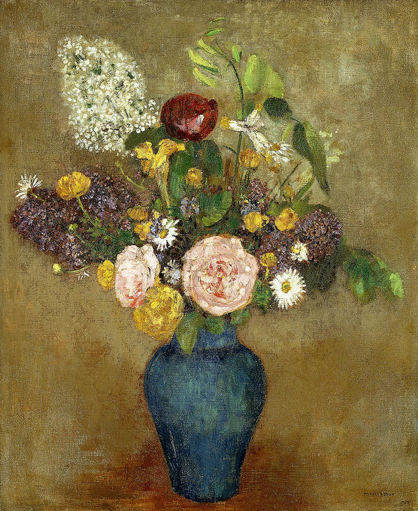 Still-life Art Print featuring the painting Vase Of Flowers by Odilon Redon