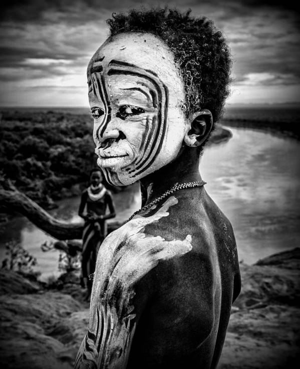 Boy Art Print featuring the photograph A Boy Of The Karo Tribe. Omo Valley (ethiopia). by Joxe Inazio Kuesta