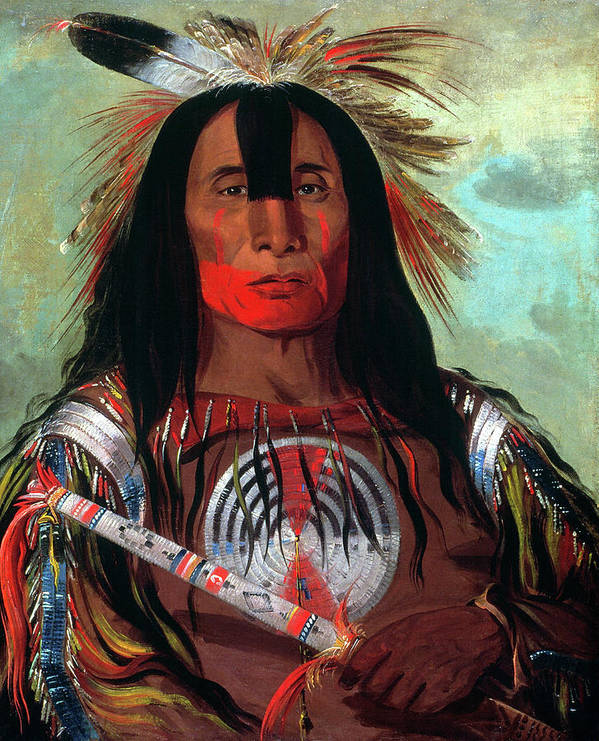 1832 Art Print featuring the painting Blood Head Chief, 1832 by Granger
