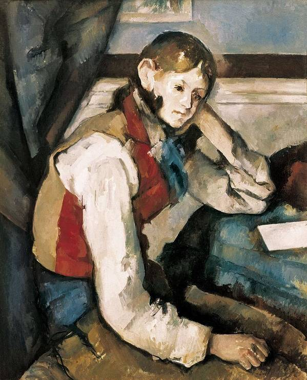 Vertical Art Print featuring the photograph Cezanne, Paul 1839-1906. The Boy by Everett