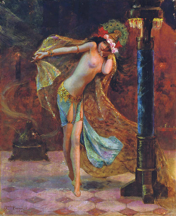 Gaston Bussiere Art Print featuring the digital art Dance Of The Veils by Gaston Bussiere