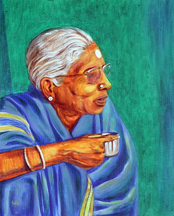 Usha Art Print featuring the painting Golden Age 2 by Usha Shantharam