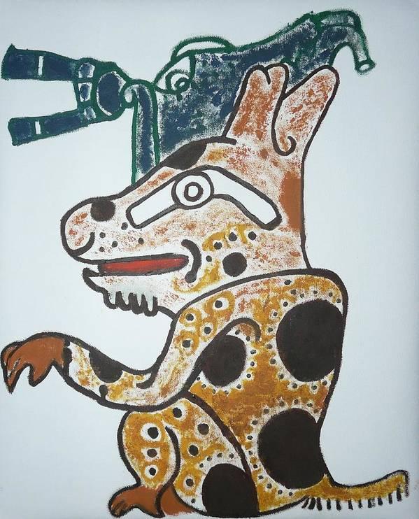 Gran Jaguar Art Print featuring the painting Gran Jaguar Iv by Juan Francisco Zeledon