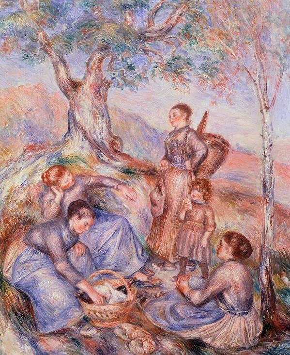 Art Art Print featuring the painting Harvesters Breakfast by Pierre-Auguste Renoir