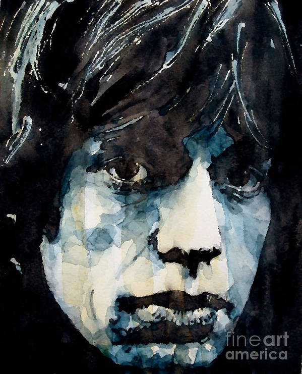 Mick Jagger Art Print featuring the painting Jagger No3 by Paul Lovering