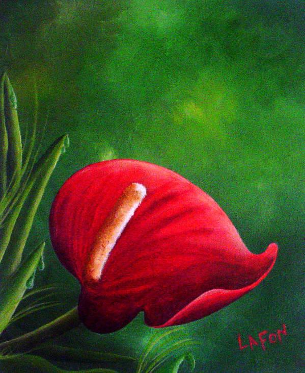 Garden Art Print featuring the painting My Garden by Owen Lafon