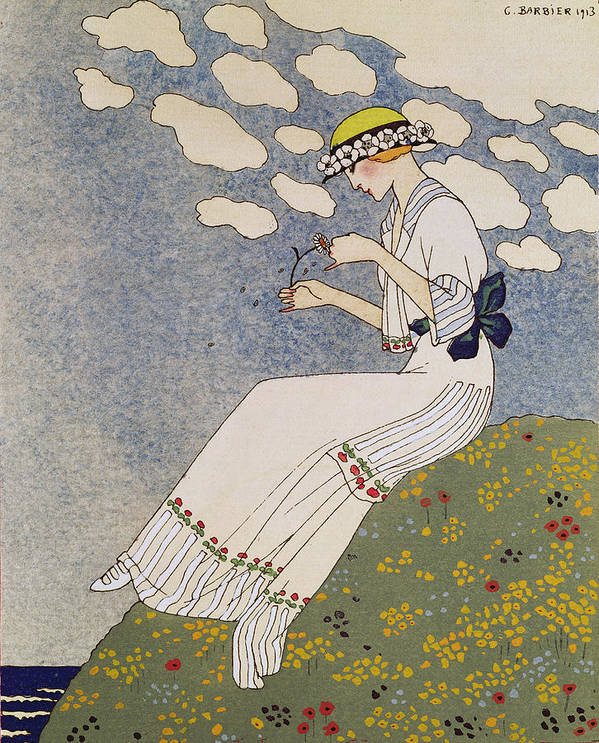 Say Nothing About It Print featuring the painting N'en Dites Rien by Georges Barbier