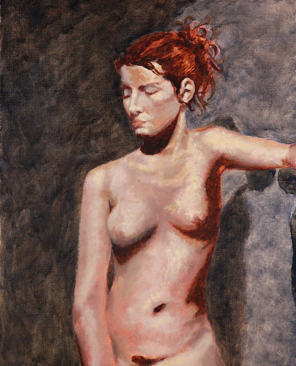 Nude French Woman Art Print featuring the painting Nude French Woman by Shelley Irish