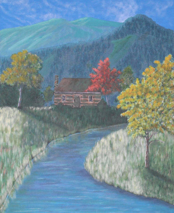Landscape Art Print featuring the painting Retreat by Candace Shockley