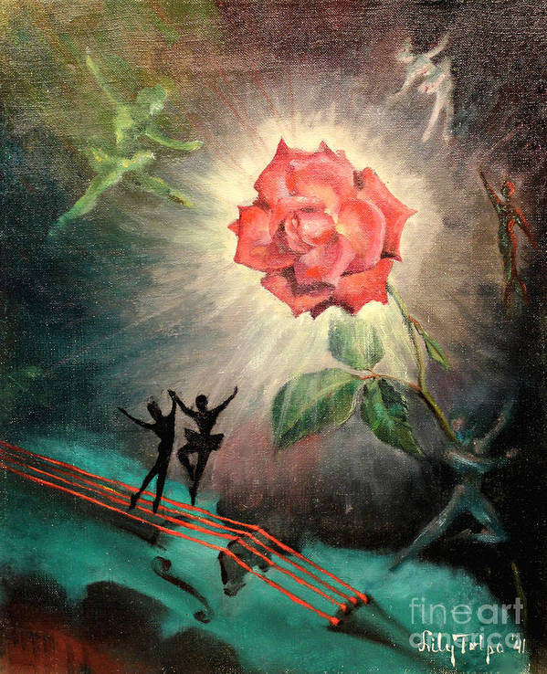 1940s Art Print featuring the painting Rose Concerto 1941 by Art By Tolpo Collection