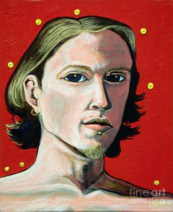 Artist's Self Portrait 1995 Art Print featuring the painting Self Portrait 1995 by Feile Case