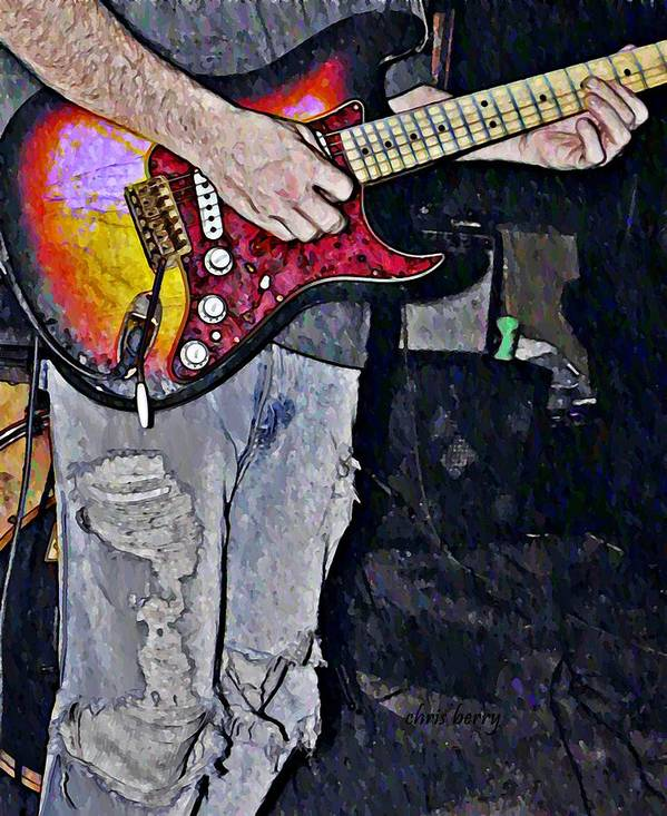 Music Art Print featuring the photograph Strat Man by Chris Berry