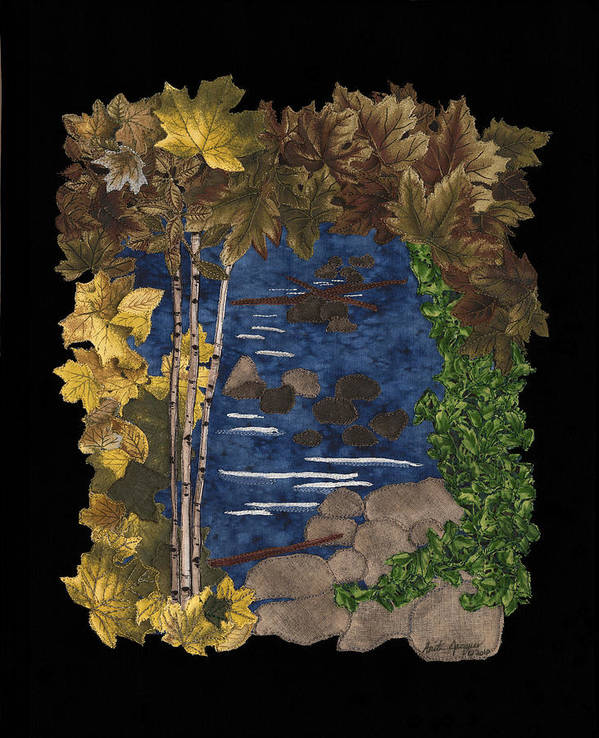 Nature Print featuring the painting Stream Of Tranquility by Anita Jacques