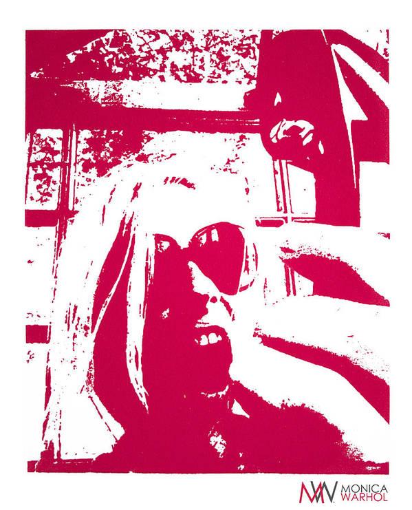 Monica Warhol Art Print featuring the painting Ta Ta Telephone by Monica Warhol