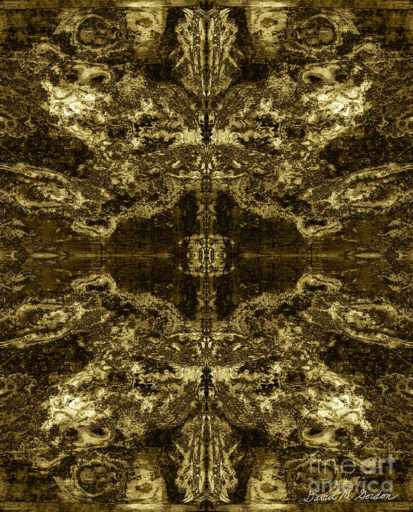 Abstract Art Print featuring the digital art Tessellation No. 2 by David Gordon