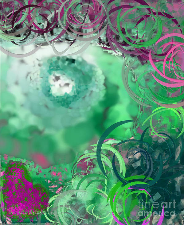 Eyes Art Print featuring the digital art The Eyes Have It Teal by Holley Jacobs