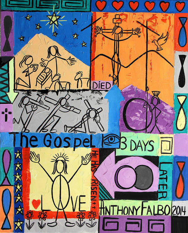 The Gospel Art Print featuring the painting The Gospel by Anthony Falbo