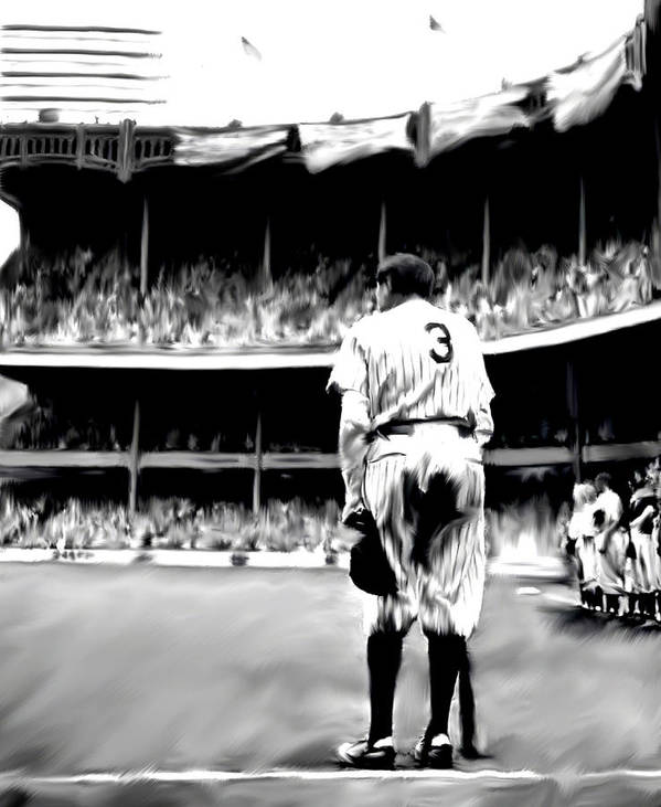 Babe Ruth Art Print featuring the painting The Greatest Of All Babe Ruth by Iconic Images Art Gallery David Pucciarelli