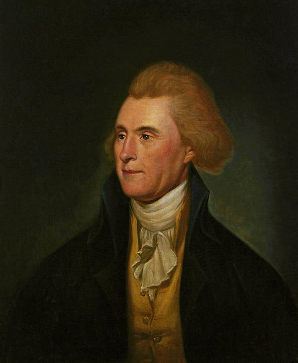 Thomas Jefferson Art Print featuring the painting Thomas Jefferson by Charles Wilson Peale