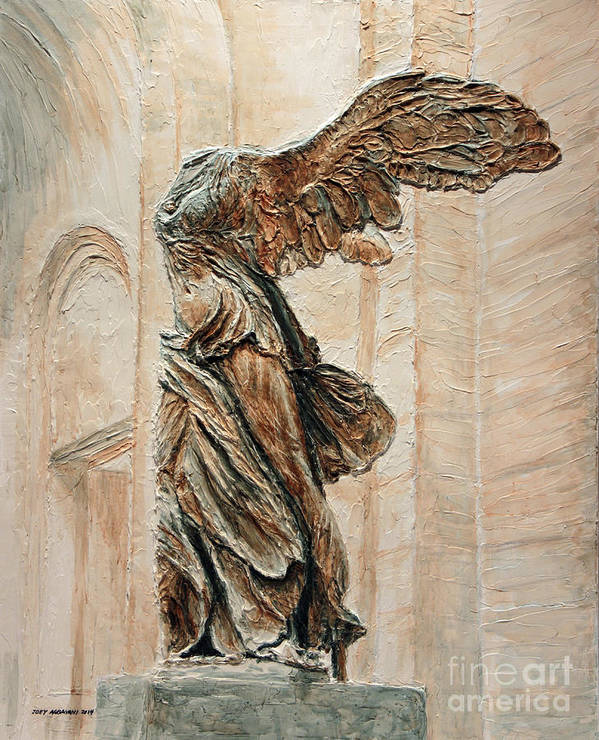 Victory Art Print featuring the painting Victory Of Samothrace by Joey Agbayani