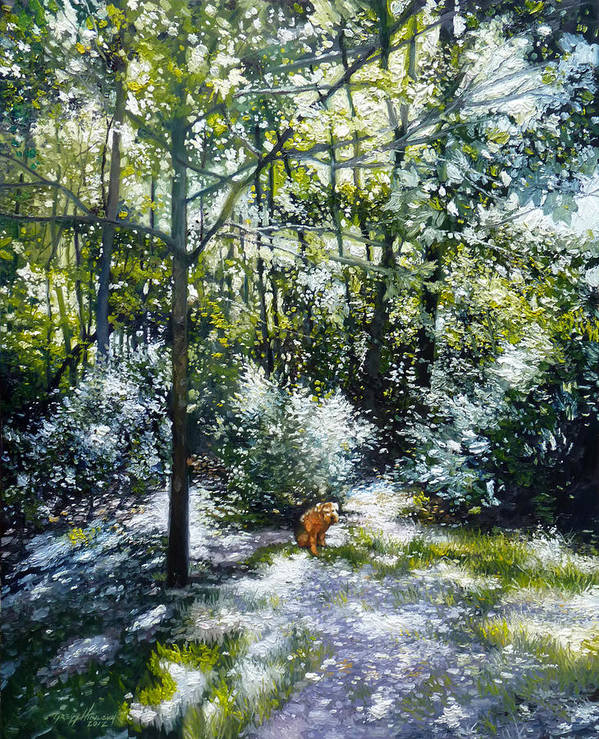 Dog Art Print featuring the painting Willow by Gregg Hinlicky