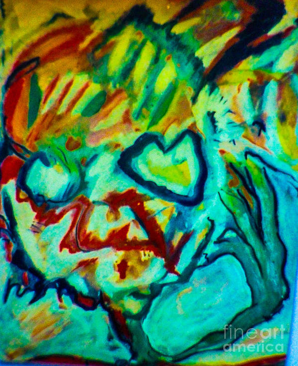 Art Print featuring the mixed media Purple People Eater by Bill Davis