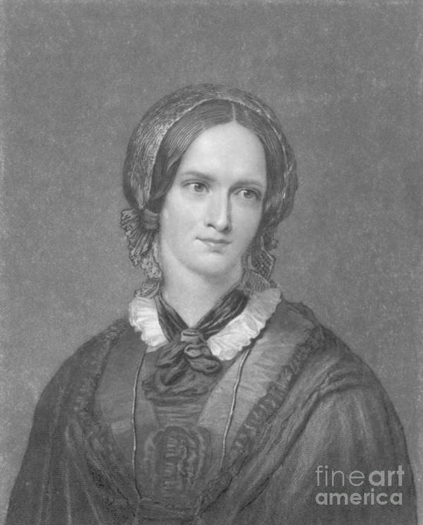 Charlotte Bronte Art Print featuring the photograph Charlotte Bronte, English Author by Photo Researchers