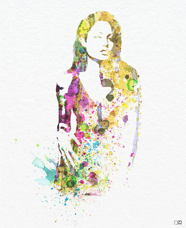 Angelina Jolie Poster Art Print featuring the digital art Angelina Jolie 2 by Naxart Studio