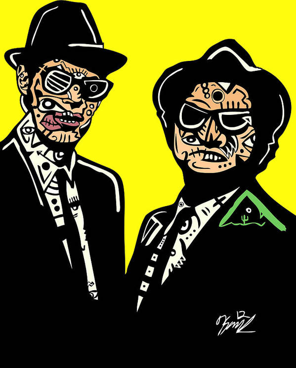 Actors Art Print featuring the digital art Blues Brothers by Kamoni Khem