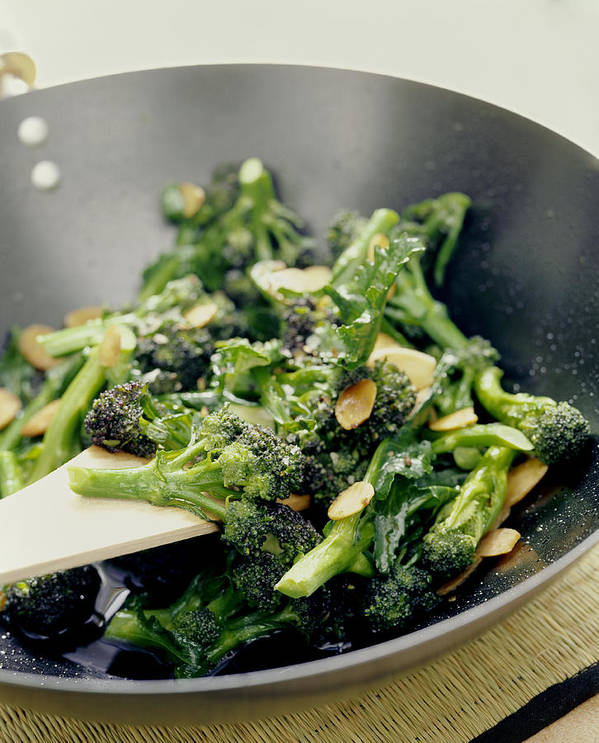Broccoli Art Print featuring the photograph Broccoli Stir Fry by David Munns