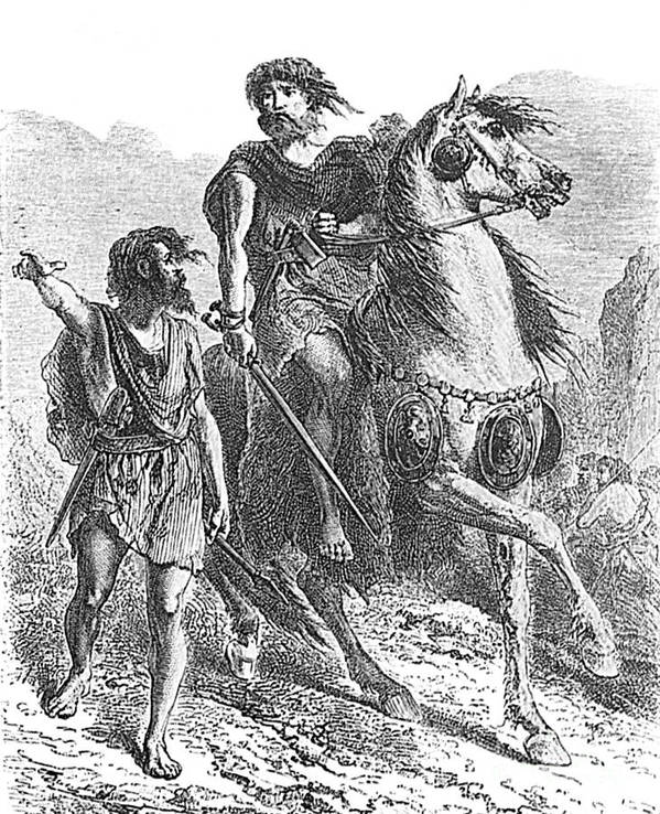 Prehistory Print featuring the photograph Bronze Age Warrior by Photo Researchers