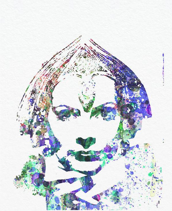 Greta Garbo Poster Print featuring the digital art Greta Garbo by Naxart Studio