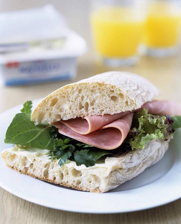 Sandwich Art Print featuring the photograph Ham Sandwich by Veronique Leplat