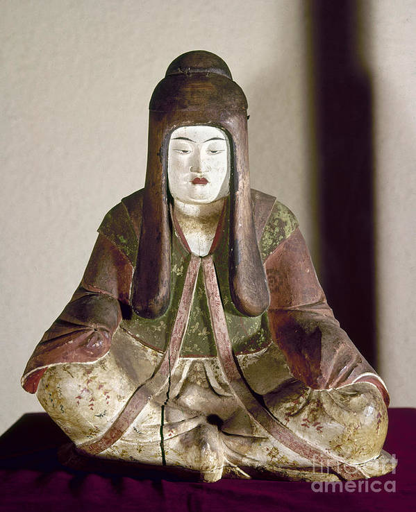 9th Century Art Print featuring the photograph Japan: Statue, 9th Century by Granger