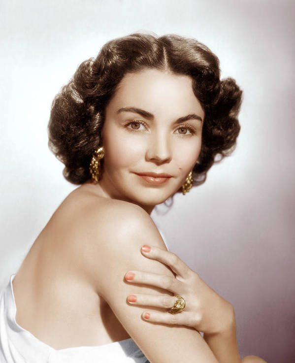 1950s Portraits Print featuring the photograph Jennifer Jones, Ca. Early 1950s by Everett