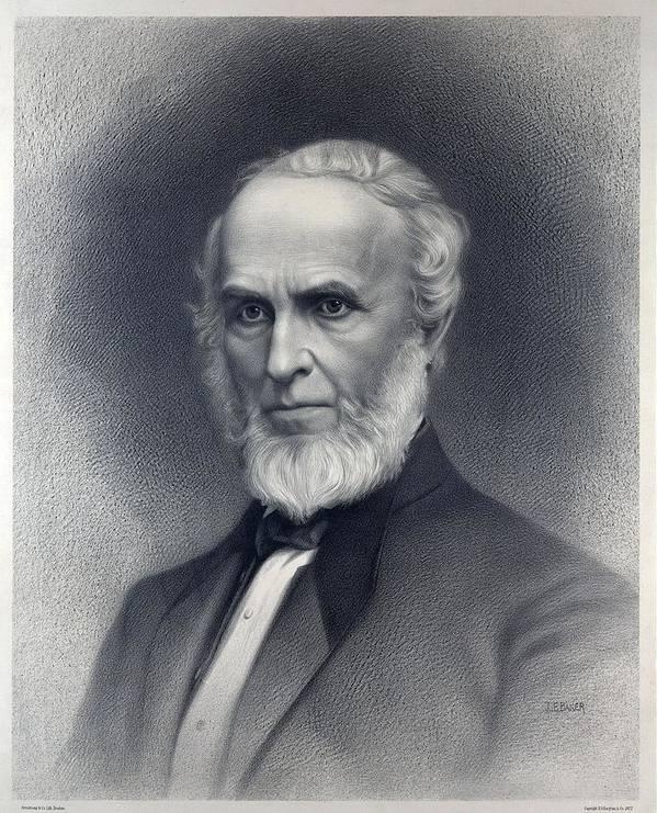 Historical Art Print featuring the photograph John Greenleaf Whittier 1807-1892 by Everett