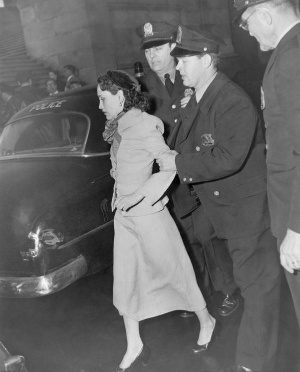 History Print featuring the photograph Lolita Lebron B. 1919, Under Arrest by Everett