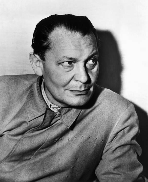 1940s Portraits Art Print featuring the photograph Nazi War Criminal Hermann Goering, Ca by Everett