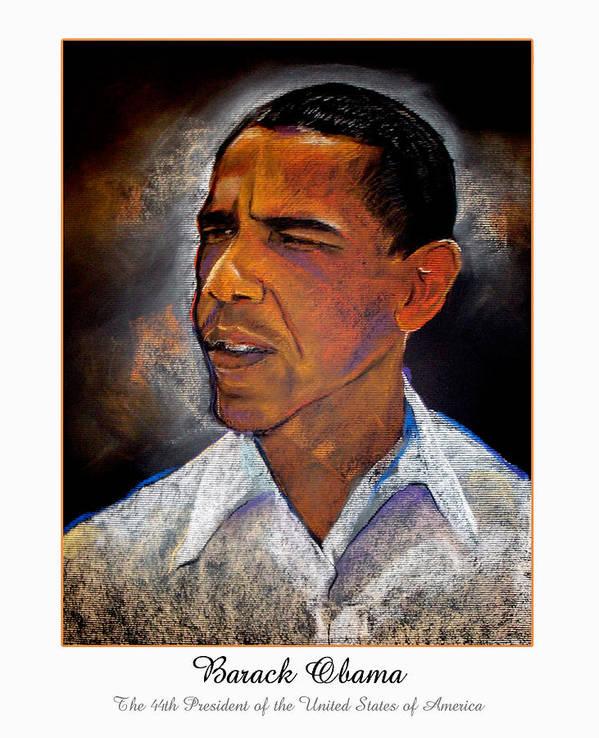 President Obama Art Print featuring the digital art Obama. The 44th President. by Fred Makubuya