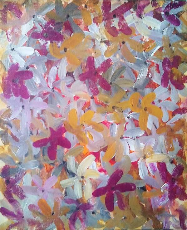 Spring Art Print featuring the painting Spring Awakening by Derya Aktas