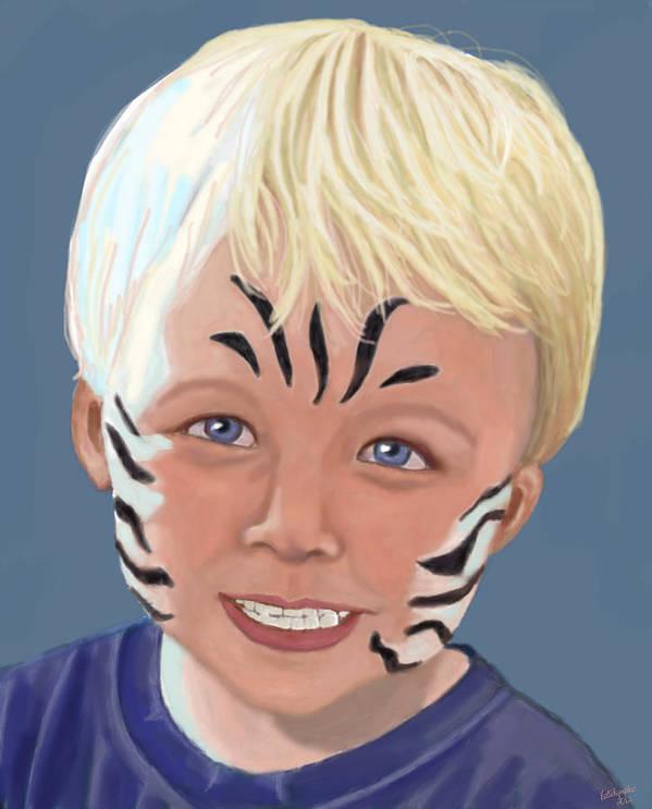 Carter Art Print featuring the digital art The Littlest Zebra by Kutedymples