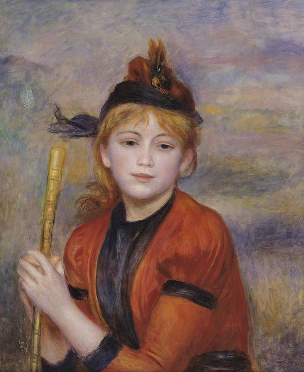 The Rambler Art Print featuring the painting The Rambler by Pierre Auguste Renoir