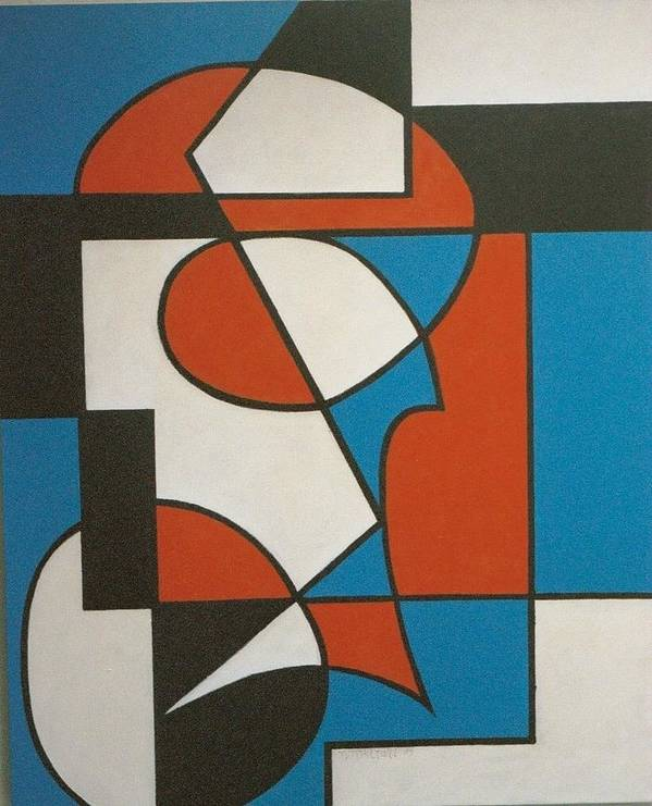 Abstract Art Print featuring the painting Calypso by Nicholas Martori