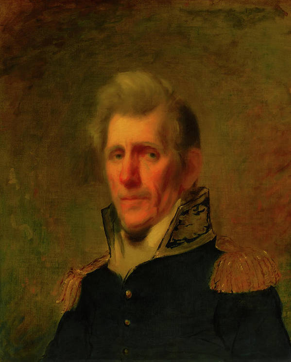 Painting Art Print featuring the painting General Andrew Jackson by Mountain Dreams