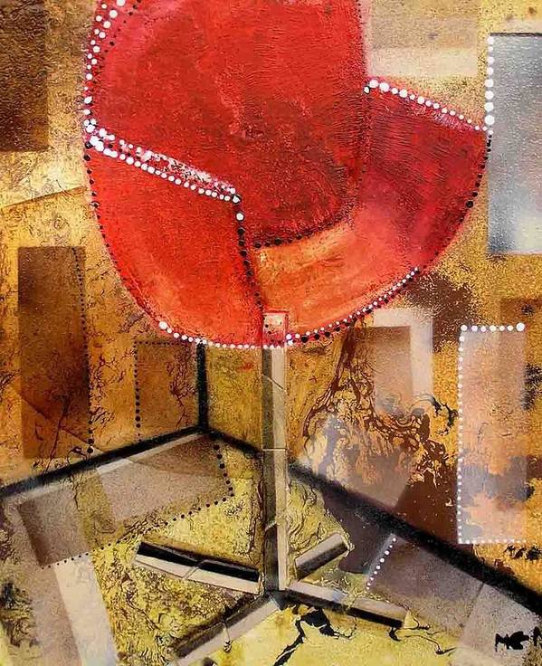 Art Print featuring the painting Red Chair by Evguenia Men