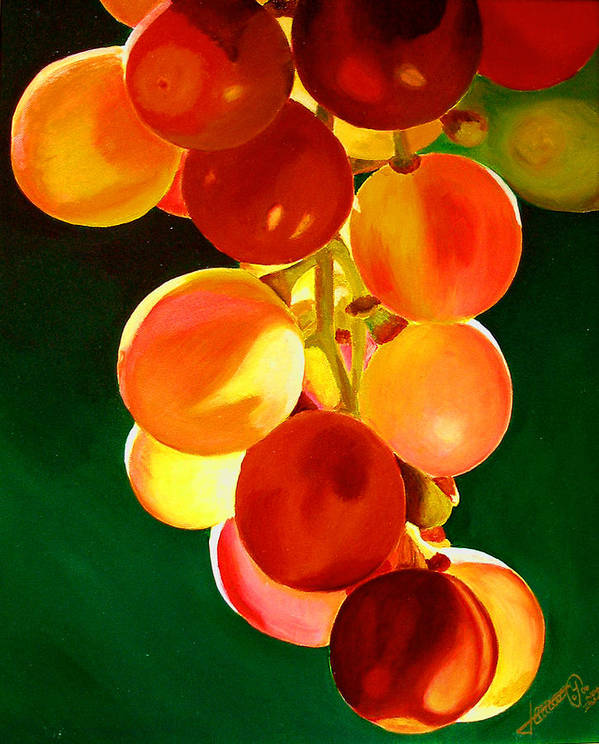 Still Life Art Print featuring the painting Sweet From The Sun by JoeRay Kelley