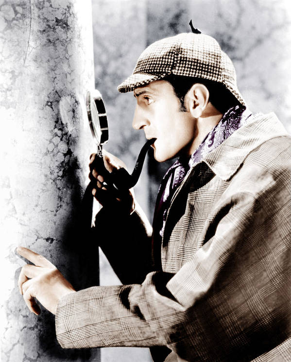 1930s Movies Art Print featuring the photograph The Adventures Of Sherlock Holmes by Everett