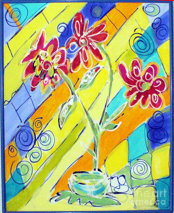 Vase Art Print featuring the painting Vase by Joyce Goldin